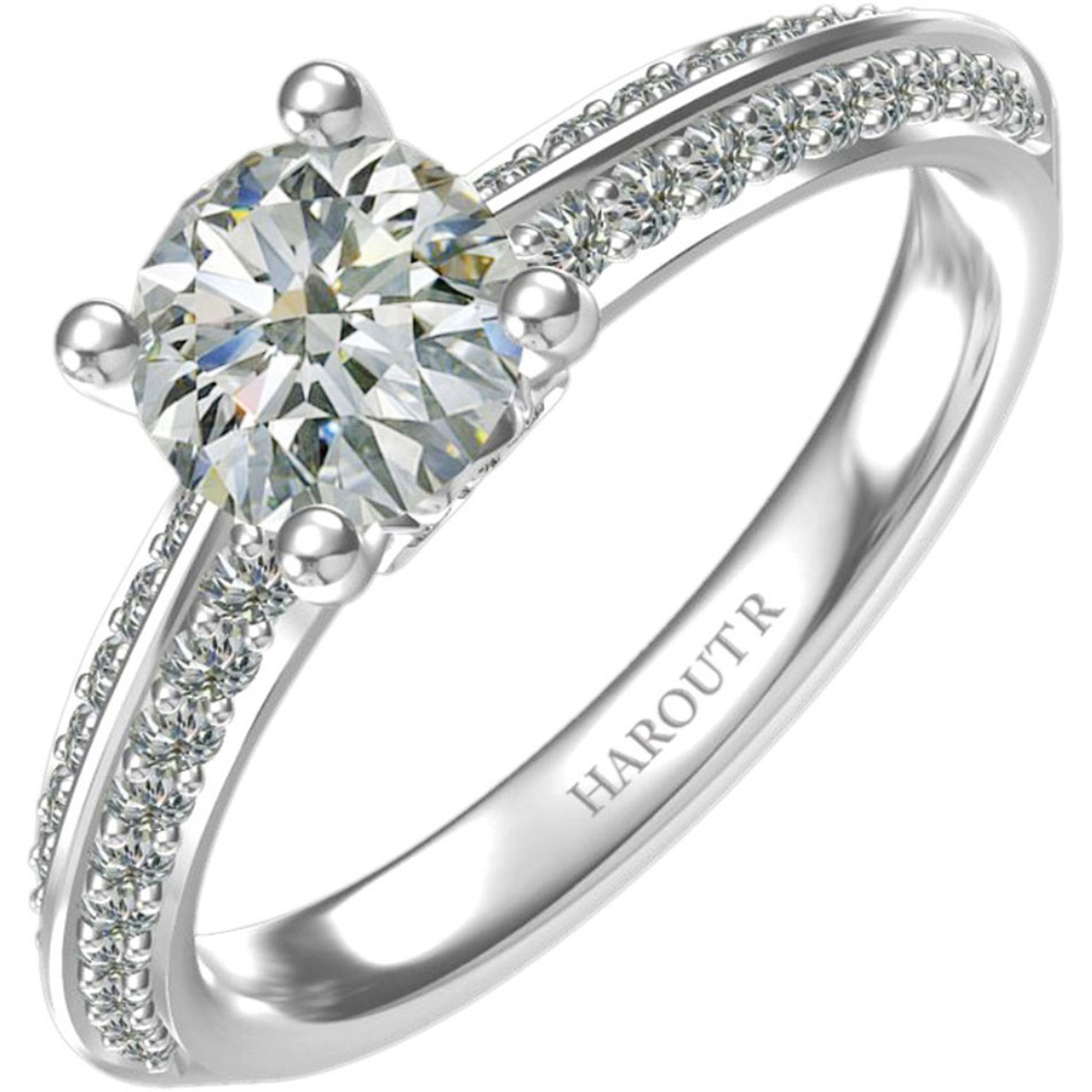 Harout R 14k White Gold 7 8 Ctw Maria Diamond Engagement Ring