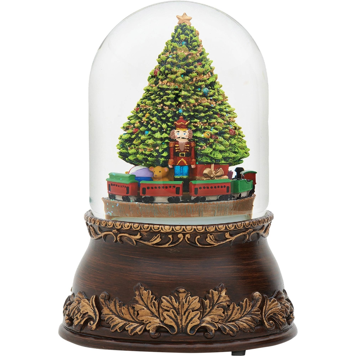 Roman Glitterdome Musical Revolving Christmas Tree And Train | Music ...