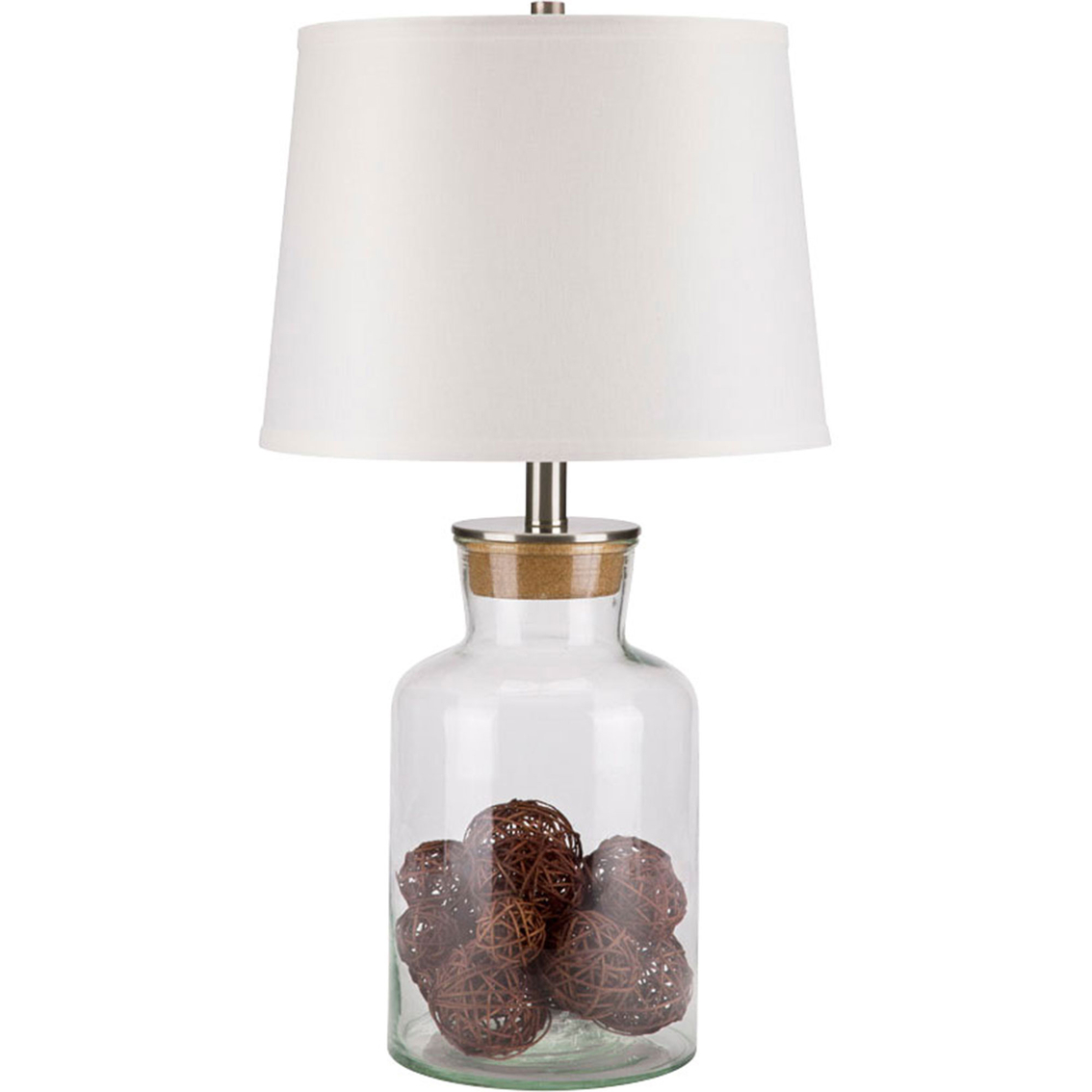 Simply Perfect Re Fillable Glass Table Lamp With Cork Top Table