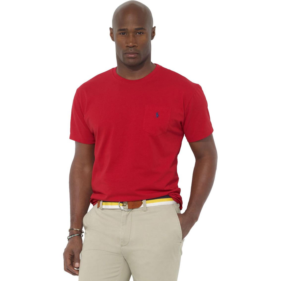 Polo ralph lauren big tall pocket crewneck tee shirts for Big and tall polo shirts with pockets
