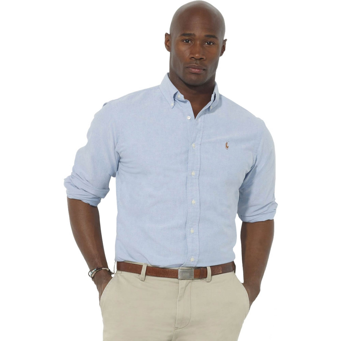 Polo ralph lauren big tall classic fit solid oxford for Tall ralph lauren polo shirts