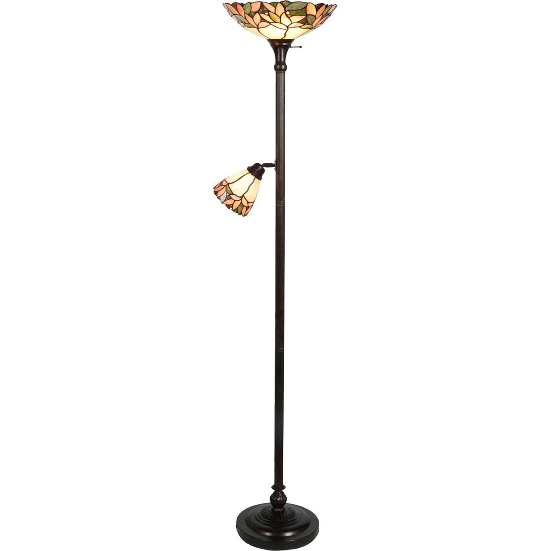 dale tiffany crystal leaf torchiere floor lamp floor With torchiere floor lamp leaves