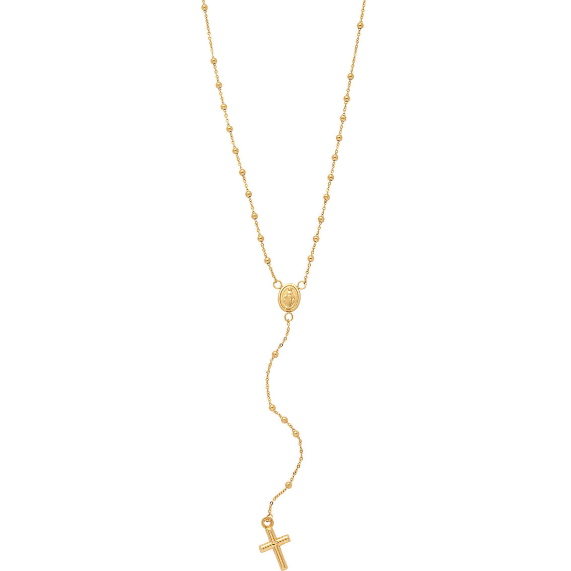 10k Yellow Gold Rosary Necklace Gold Necklaces Pendants Gifts