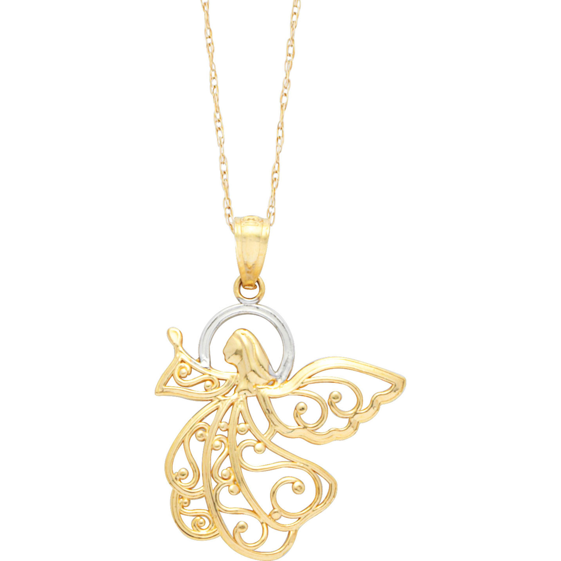 necklaces chain and necklace gold two tone image from pendants