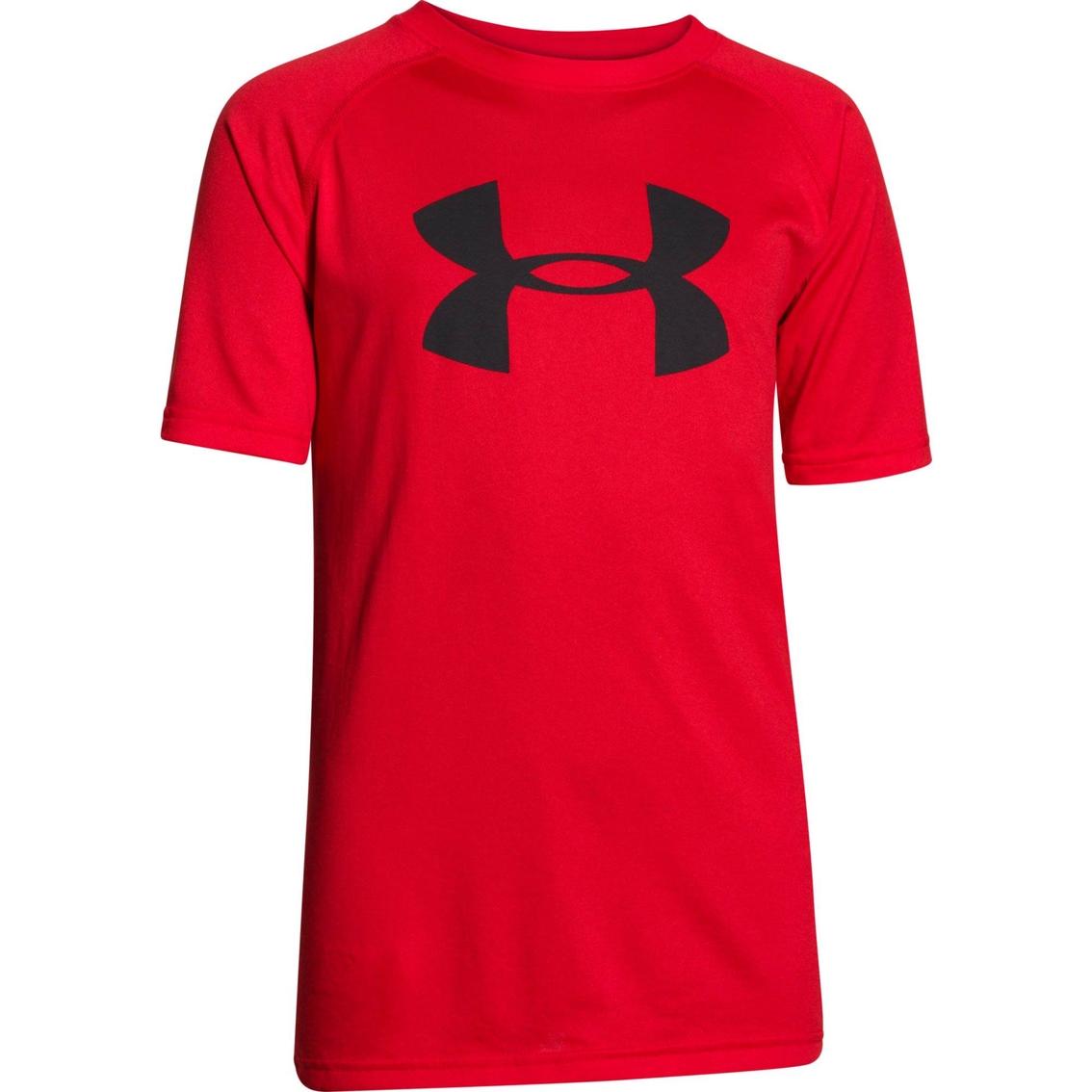 Under armour boys big logo ua tech tee shirts tees for Under armour shirts for kids