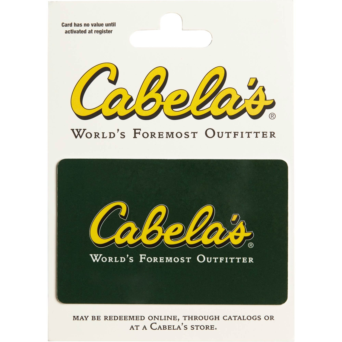 5f00556eed Cabela s Gift Card