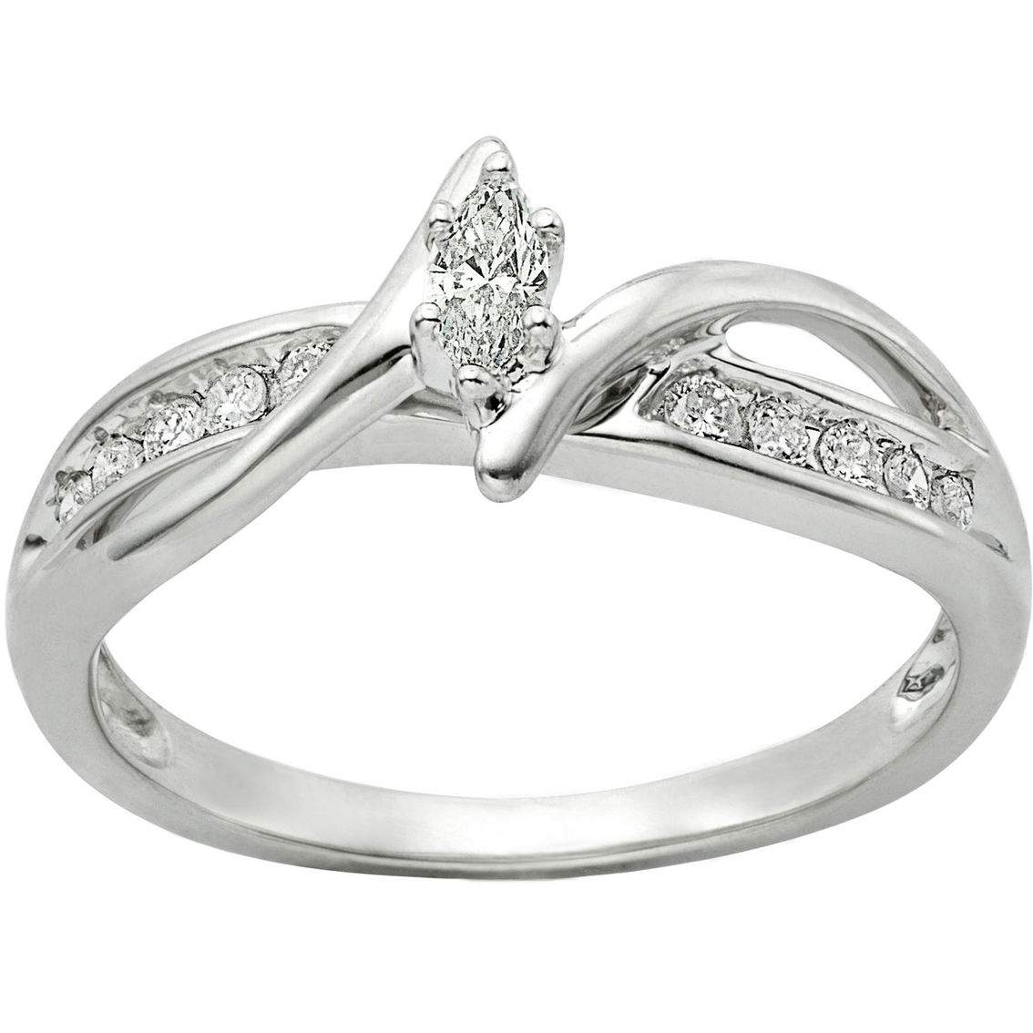sterling silver 1 4 ctw promise ring jewelry