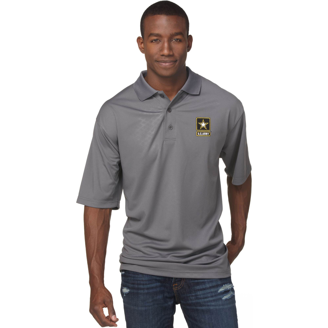 3c7a5544 Duke Performance Polo With Embroidered Army Insignia Gray | Apparel ...