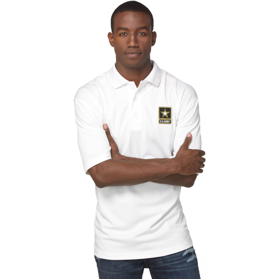 c5502ce2 Duke Performance Polo With Embroidered Army Insignia White | Apparel ...