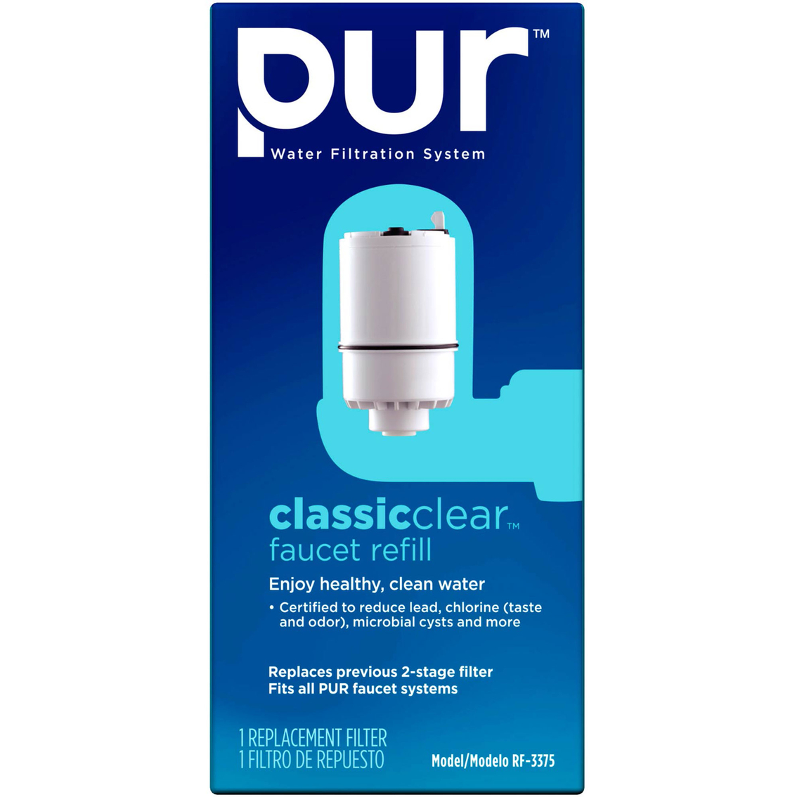 Pur Faucet Mount Water Filtration System Classic Clear Replacement ...