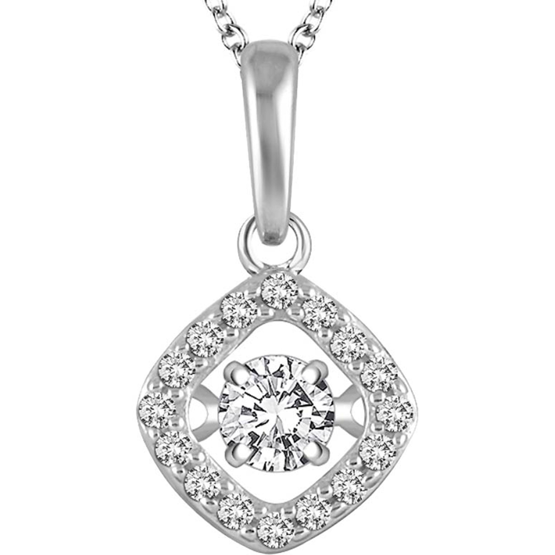 14k white gold 14 ctw dancing diamond halo pendant diamond pendants diamond fashion pendants 1888 audiocablefo