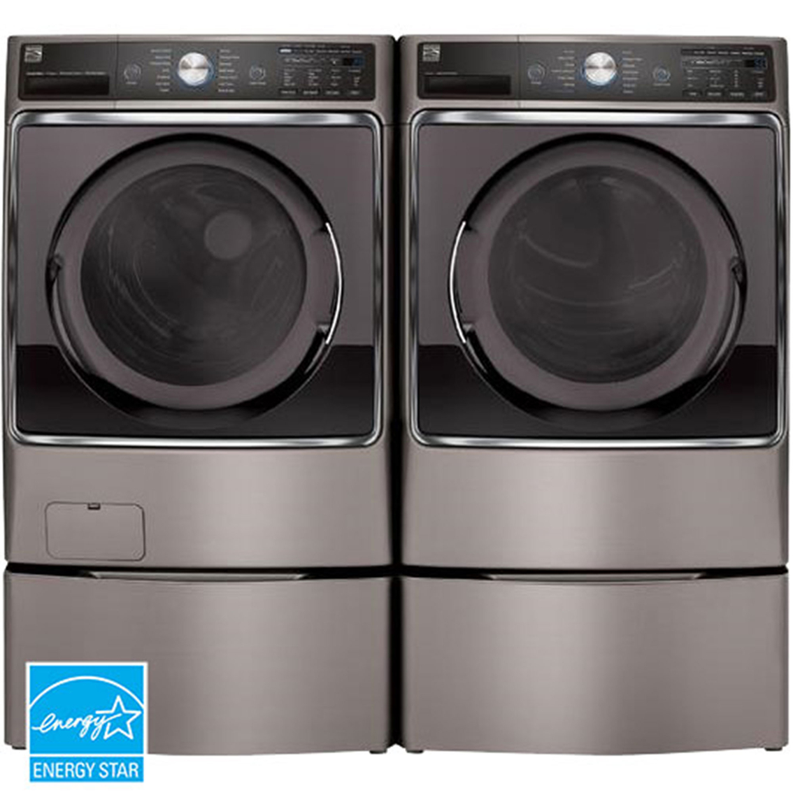 Kenmore Elite 5 2 Cu Ft Front Load Washer And 9 0 Cu Ft