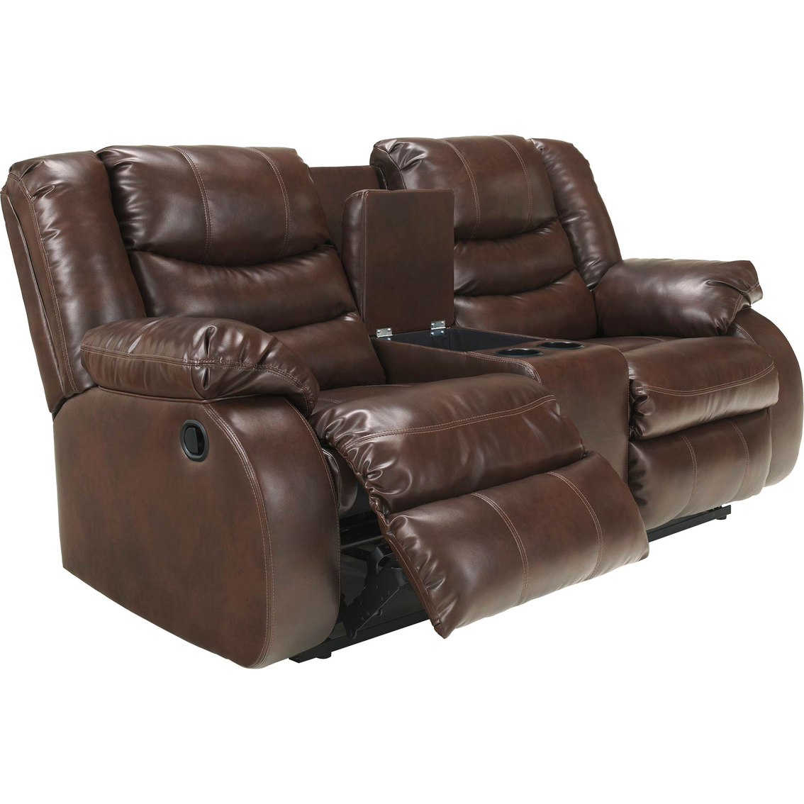 1573  sc 1 st  Exchange & Ashley Linebacker Reclining Console Loveseat | Ashley Furniture ... islam-shia.org