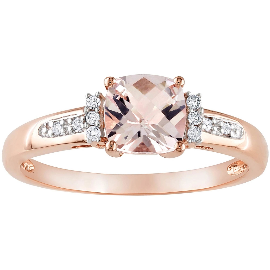 sofia b 10k rose gold morganite ring with diamond accents. Black Bedroom Furniture Sets. Home Design Ideas
