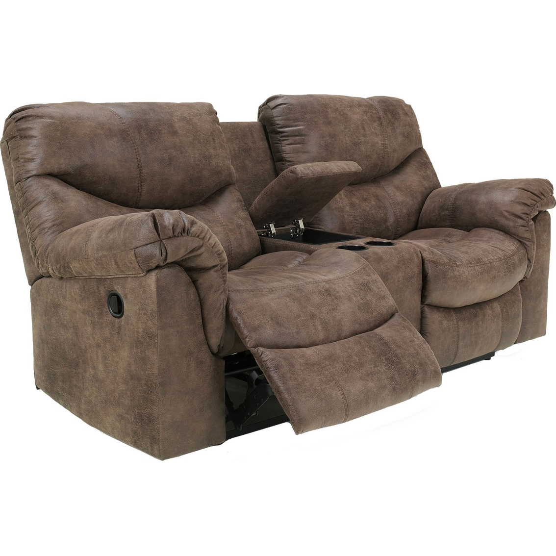 catnapper storage cn center p chestnut reclining loveseat and console ls wide extra with cupholders nolan leather