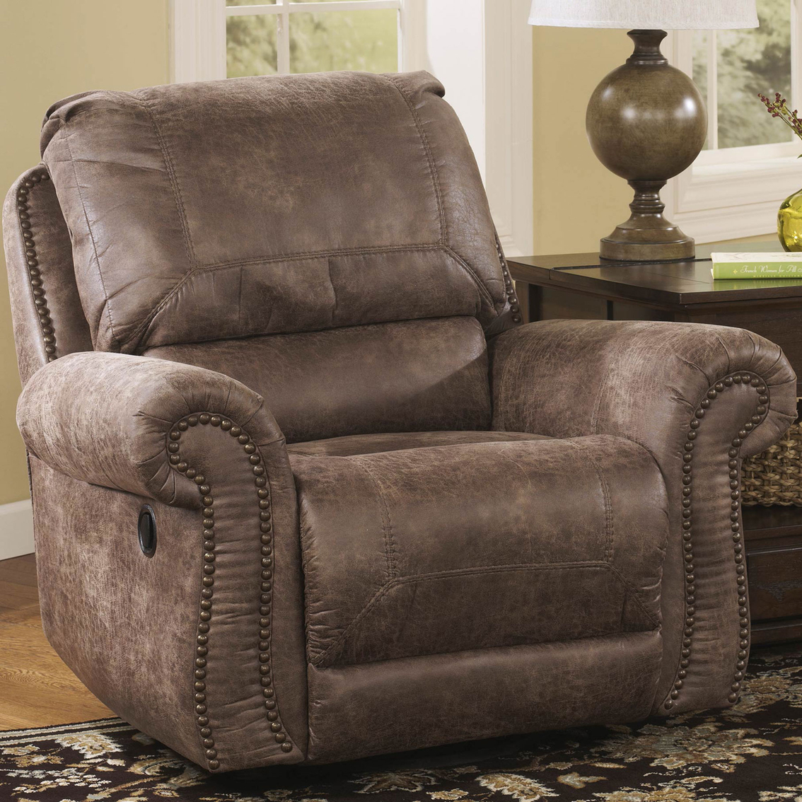 Ashley Oberson Swivel Glider Recliner Chairs Amp Recliners