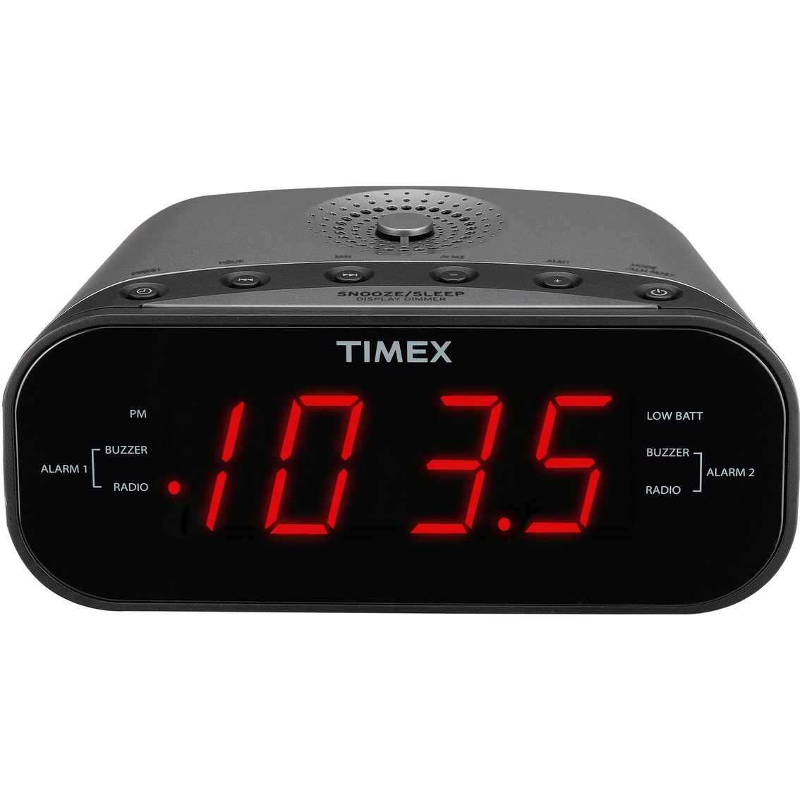 timex am fm dual alarm clock radio with digital tuning alarm clocks shop the exchange. Black Bedroom Furniture Sets. Home Design Ideas