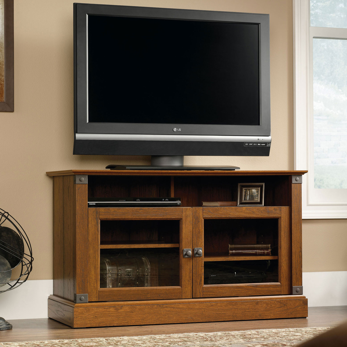 Sauder Carson Forge Panel Tv Stand Media Furniture