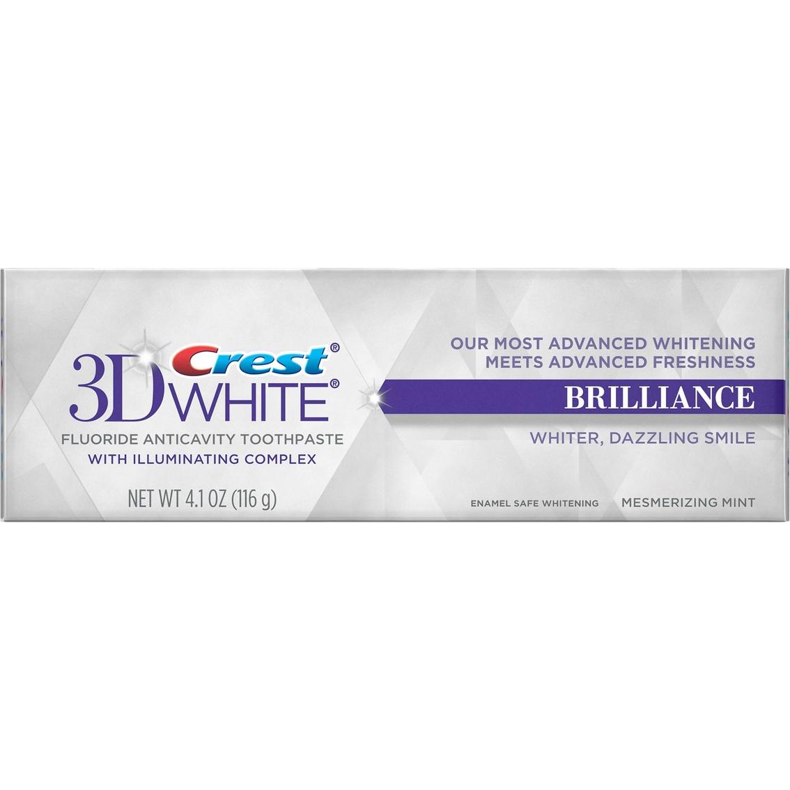 Crest 3d White Brilliance Vibrant Peppermint Whitening Toothpaste