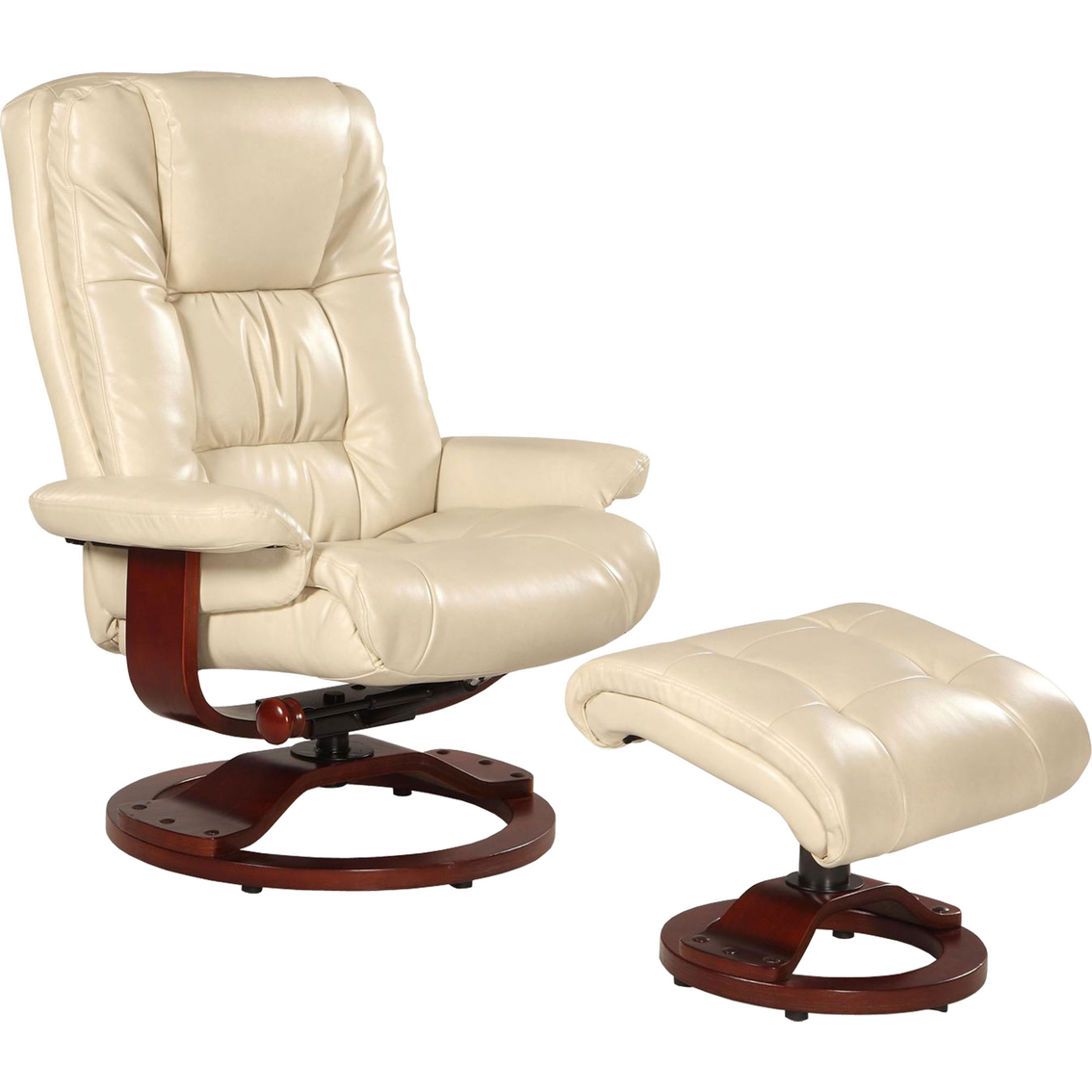 Mac Motion Oslo Swivel Recliner And Ottoman Set Chairs Recliners Ho
