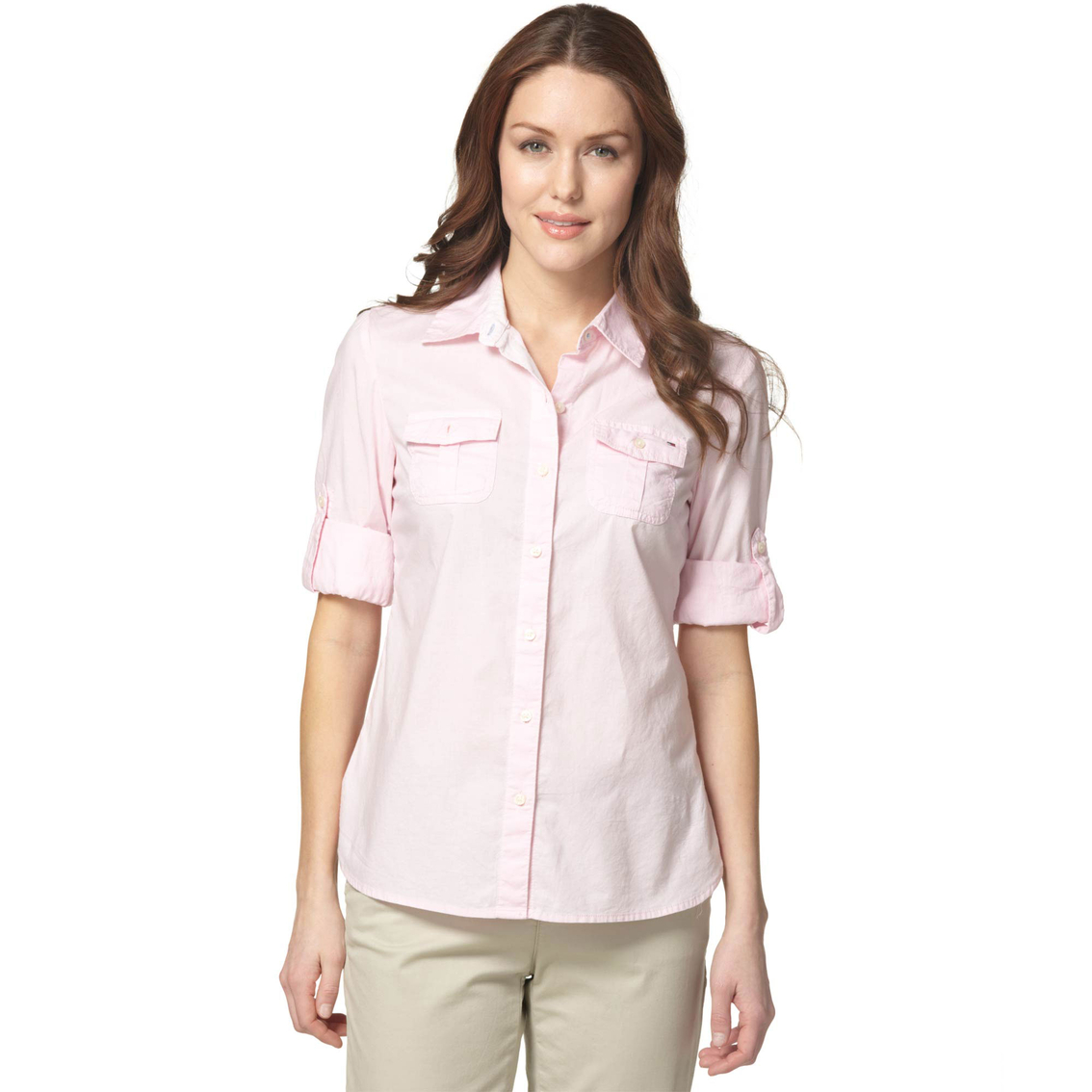 Tommy Hilfiger Solid Roll Tab Shirt Casual Shirts Apparel Shop
