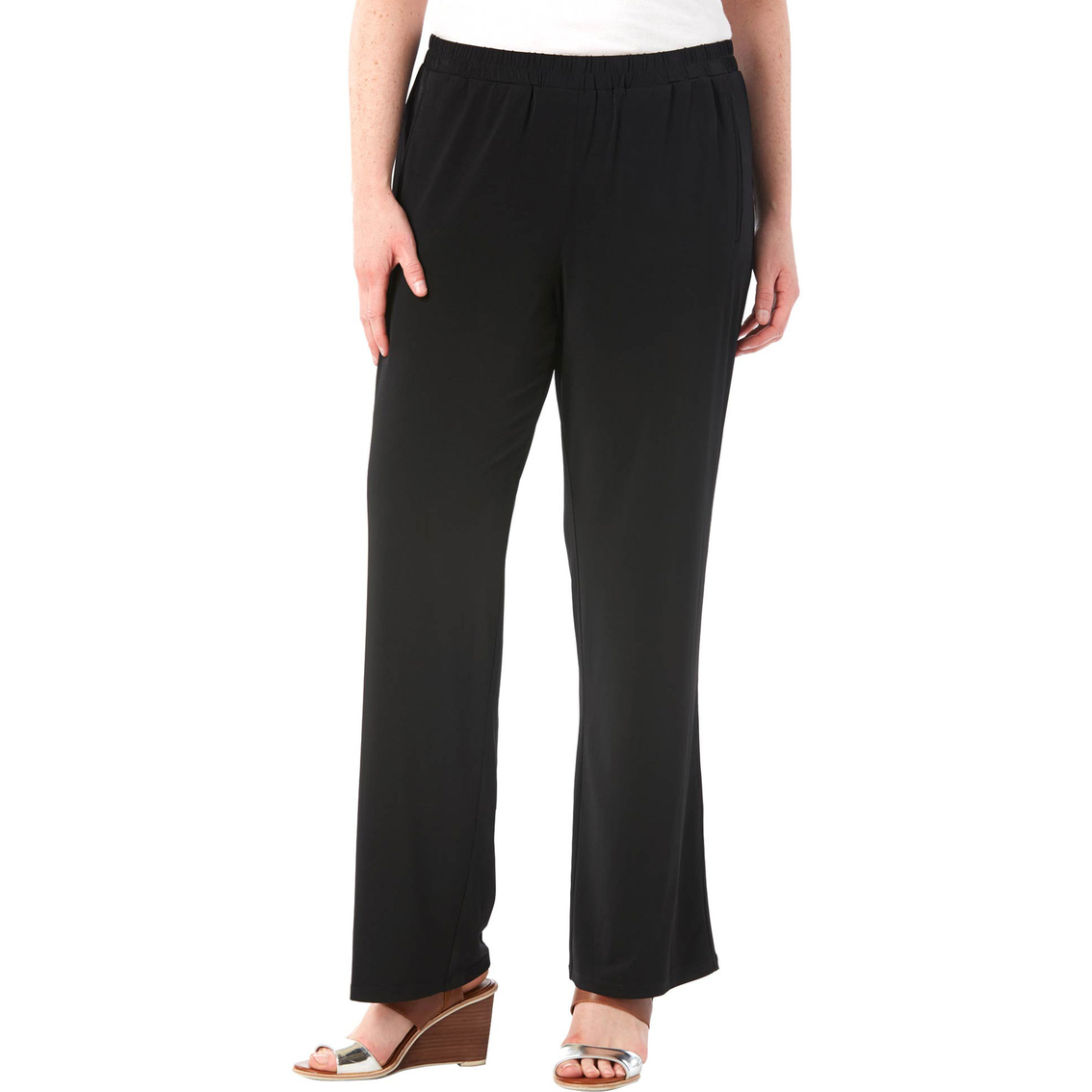 Michael Kors Plus Size Elastic-waist Wide-leg Pants | Apparel ...