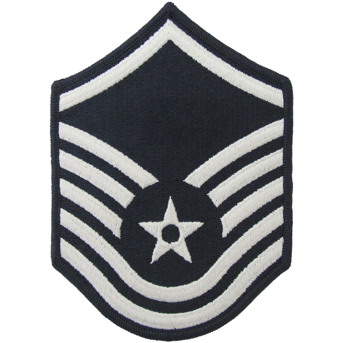 Air Force Master Sergeant Msgt Blue Chevron Large Rank