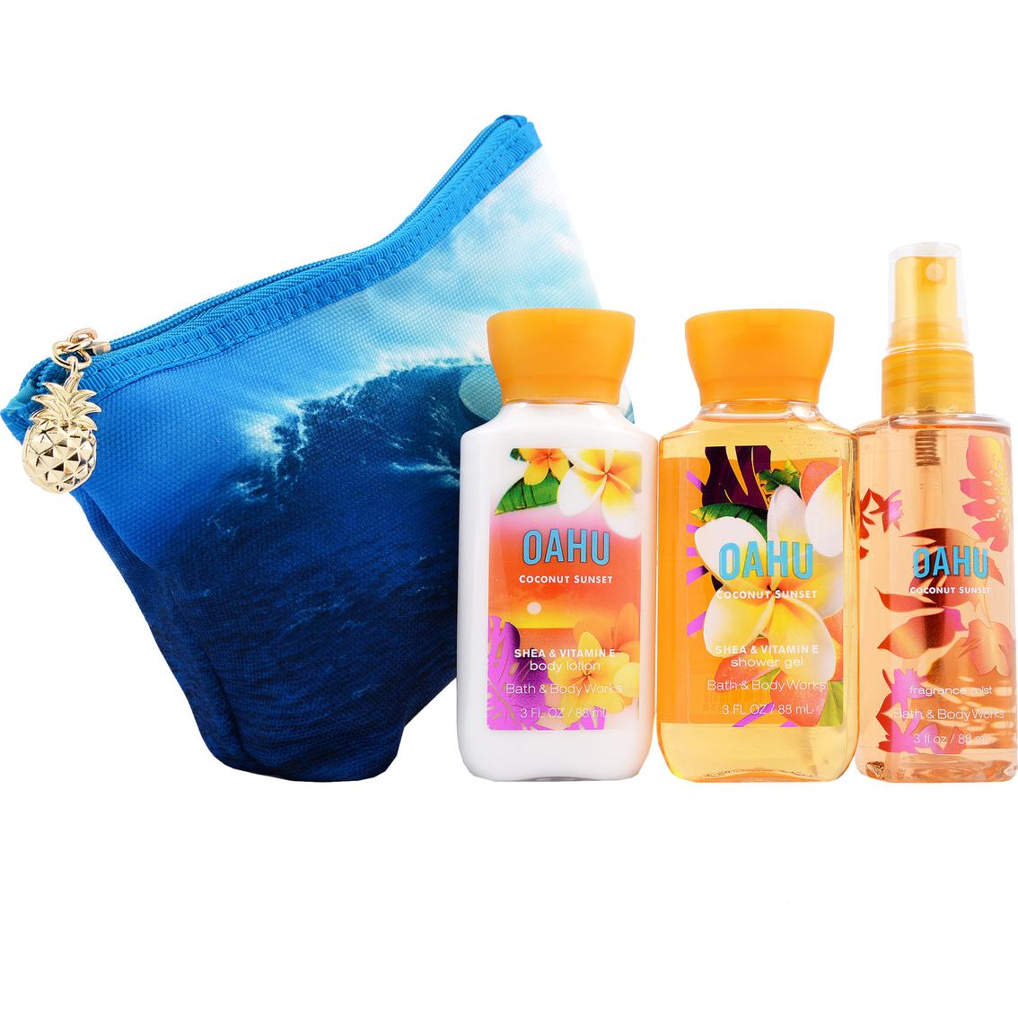 bath body works oahu coconut mini ritual cosmetic bag 1191