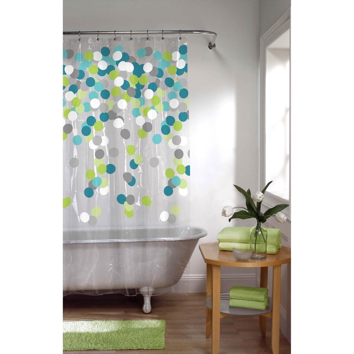 Maytex Cheer Blue/green Peva Shower Curtain   Shower Curtains ...