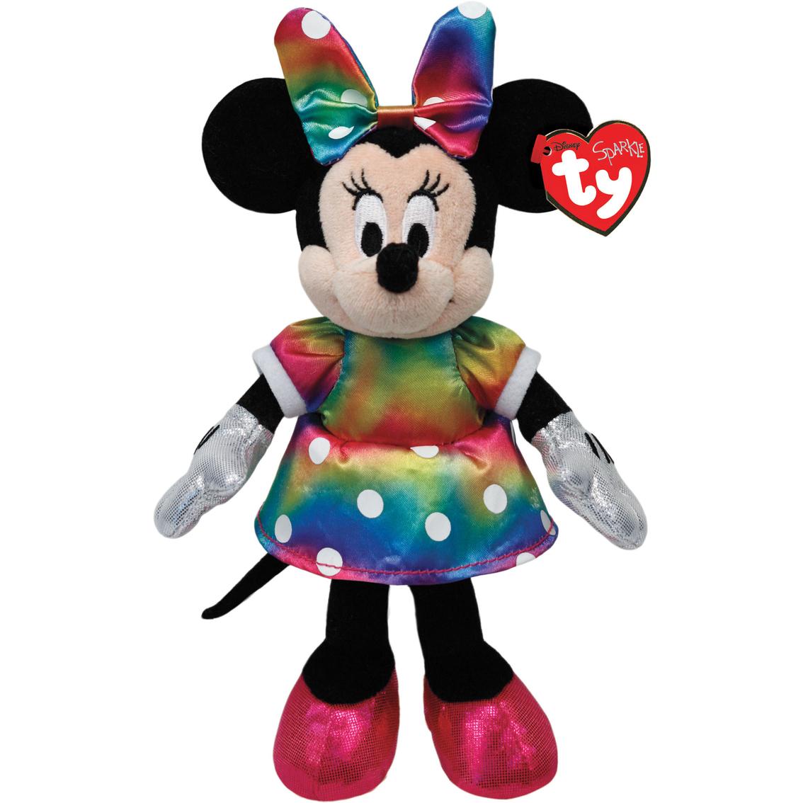 Ty Disney Minnie Mouse Ty Dye Sparkle Plush Toy Stuffed