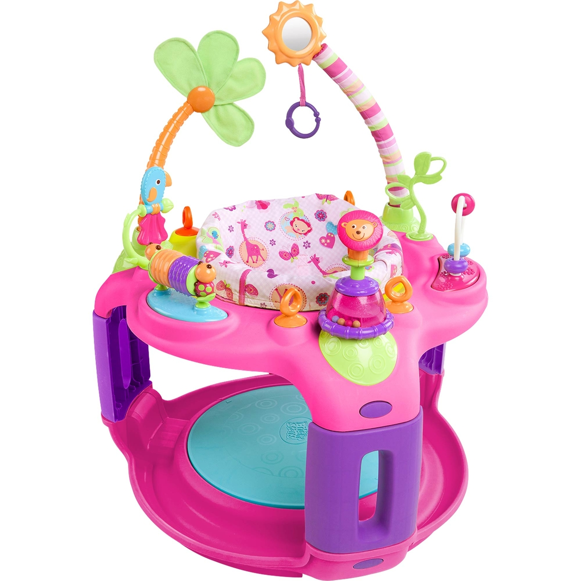 3ece72360 Bright Starts Pretty In Pink Sweet Safari Bounce-a-round
