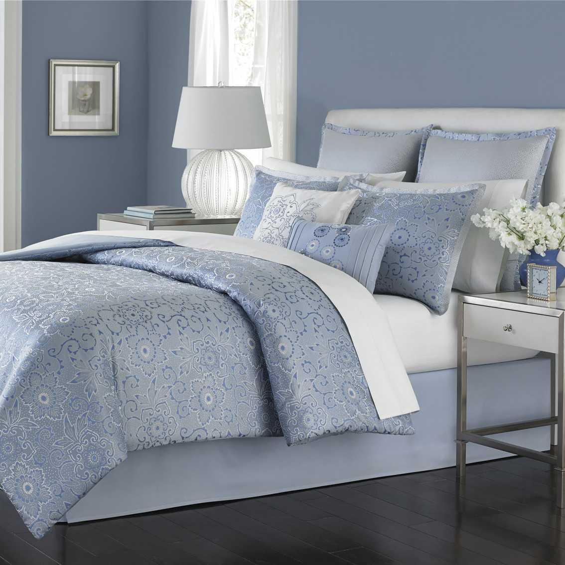 Martha Stewart Collection Periwinkle Dream Comforter Set