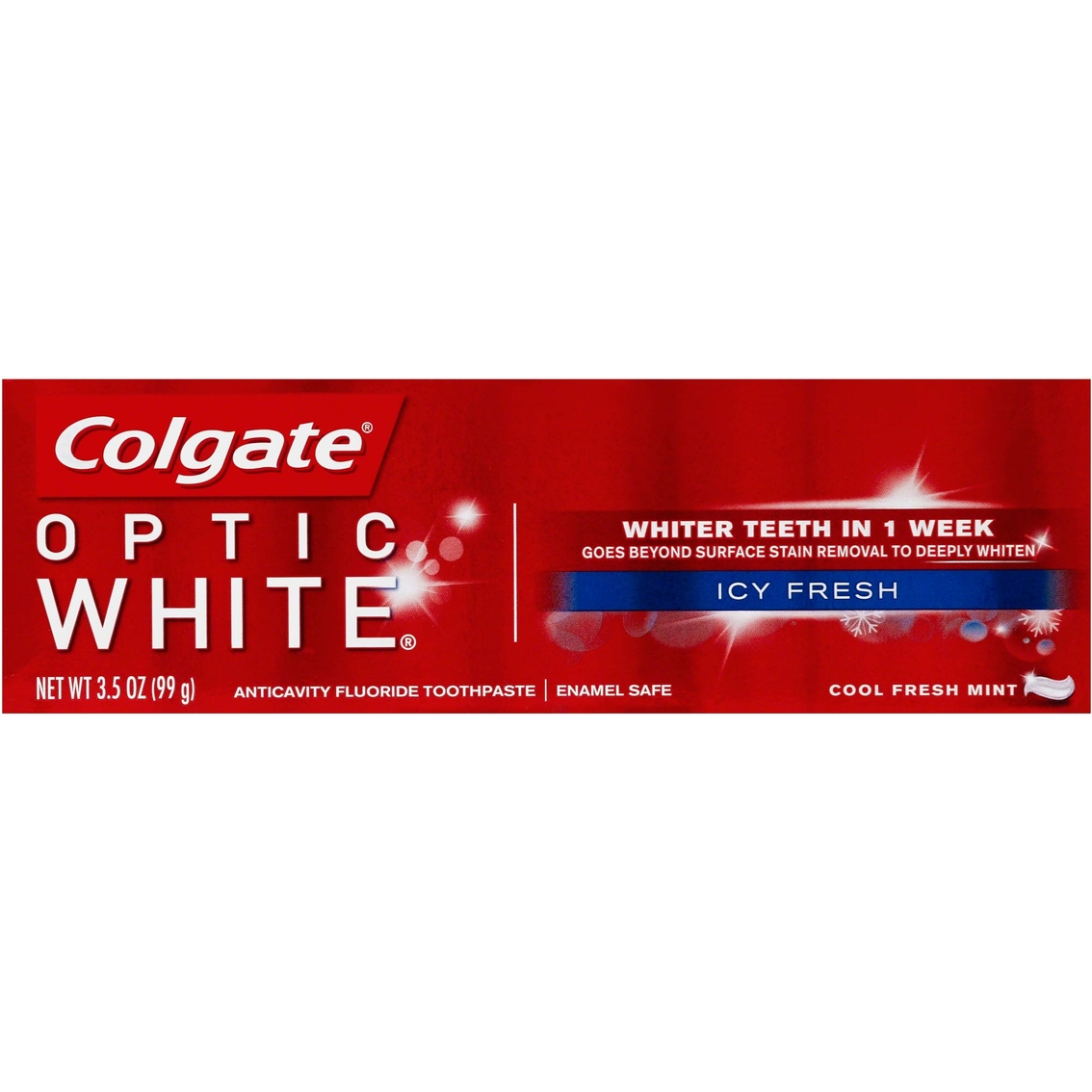 Colgate Optic White Icy Fresh Toothpaste Cool Fresh Mint Tooth