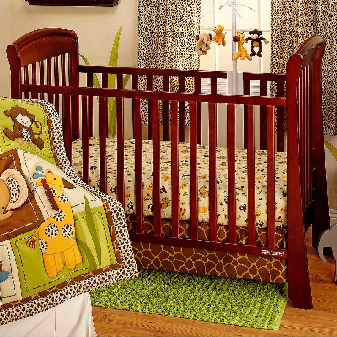 Crown Craft Jungle Dreams 3 Pc Crib Bedding Set Crib