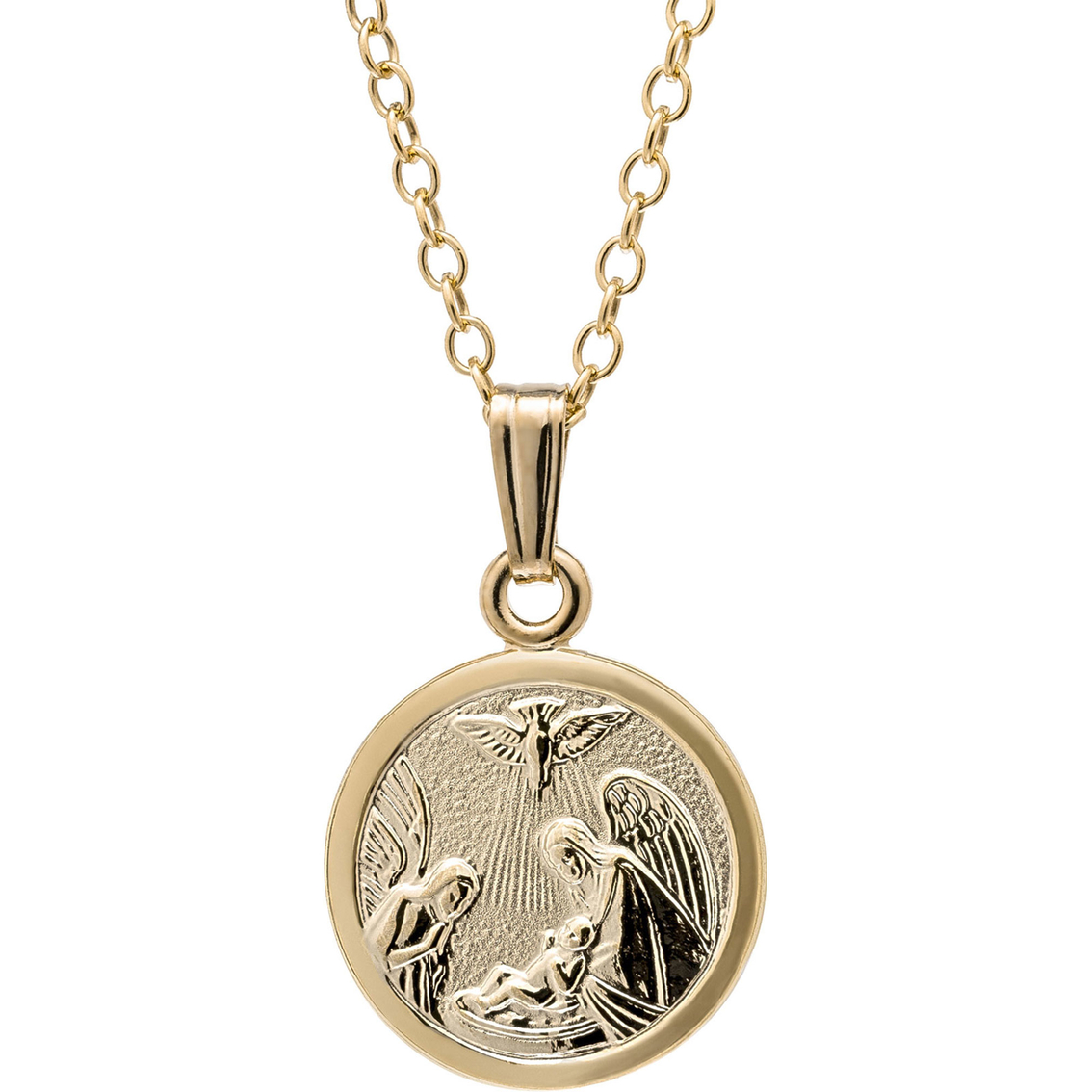 Kids 14k Gold Filled Guardian Angel Baptism Pendant | Children's Necklaces  & Pendants | Jewelry & Watches | Shop The Exchange