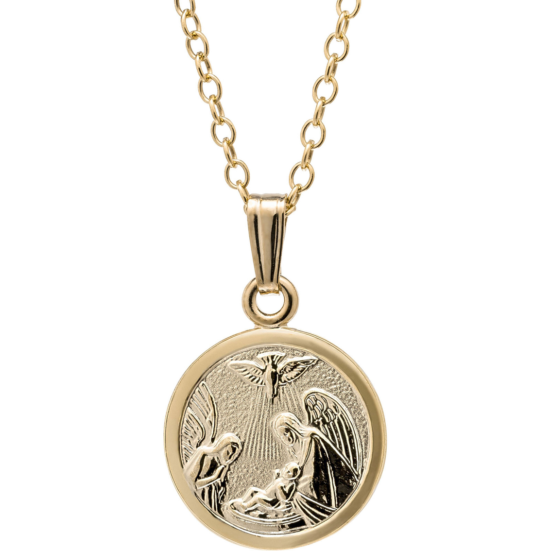 Kids 14k yellow gold filled guardian angel baptism pendant gbuj aloadofball Choice Image
