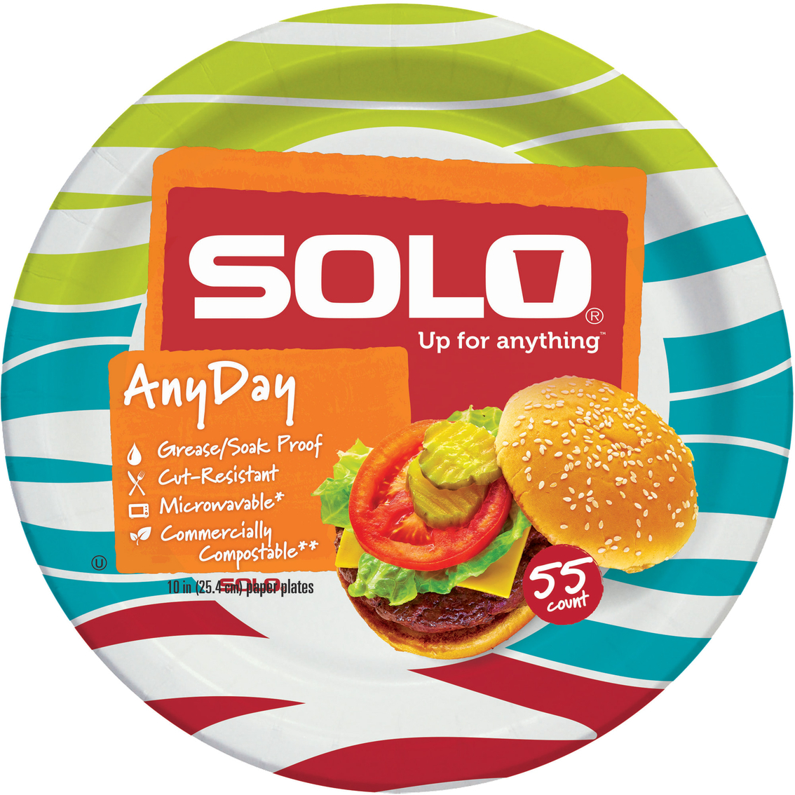 Heavy Duty Paper Plates 55 Pk.  sc 1 st  ShopMyExchange.com & Solo 10 In. Heavy Duty Paper Plates 55 Pk. | Disposable Tableware ...