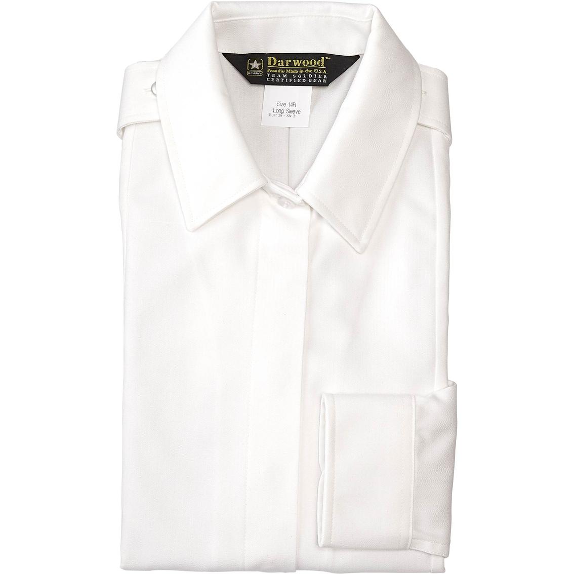 b58f2c0f Army Women's White Placket Long Sleeve Blouse (asu)   Shirts ...