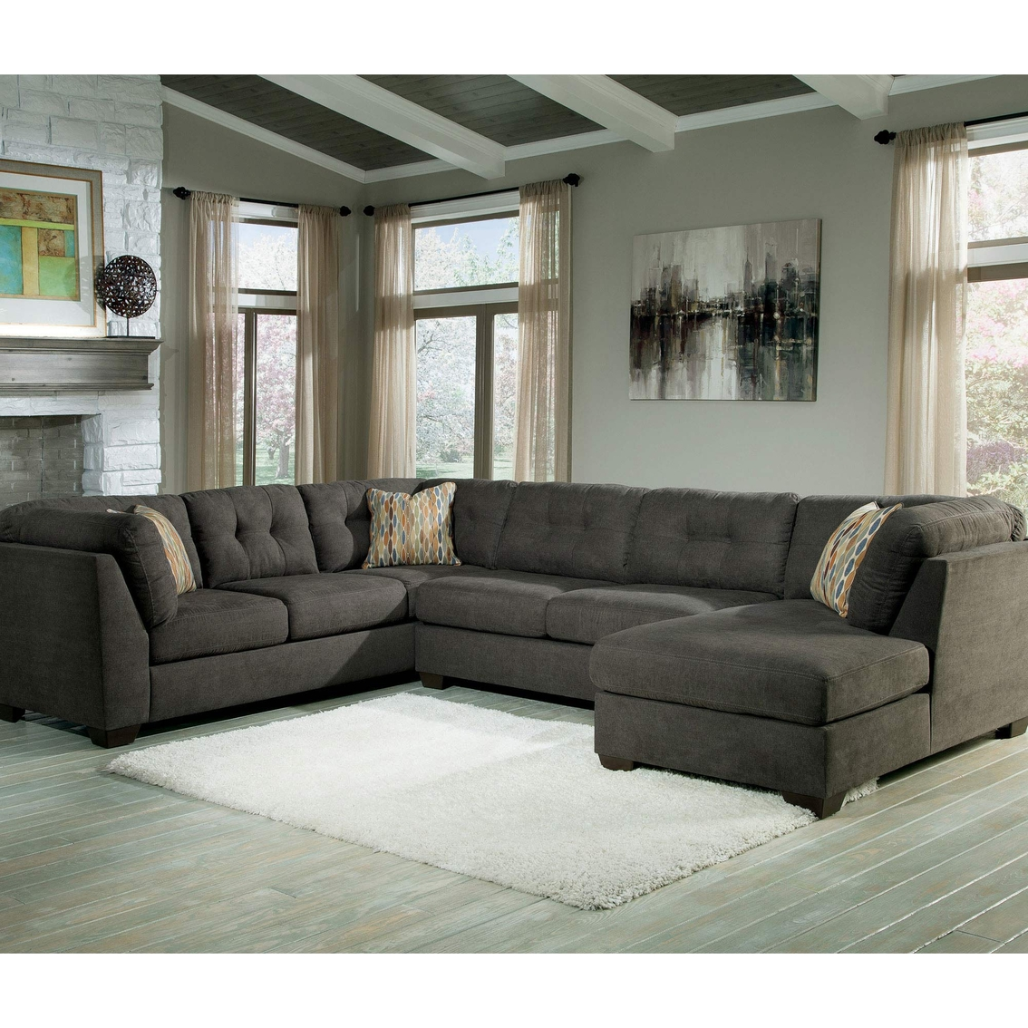 Raf Sofa Sectional Alenya Charcoal Laf Loveseat With Raf