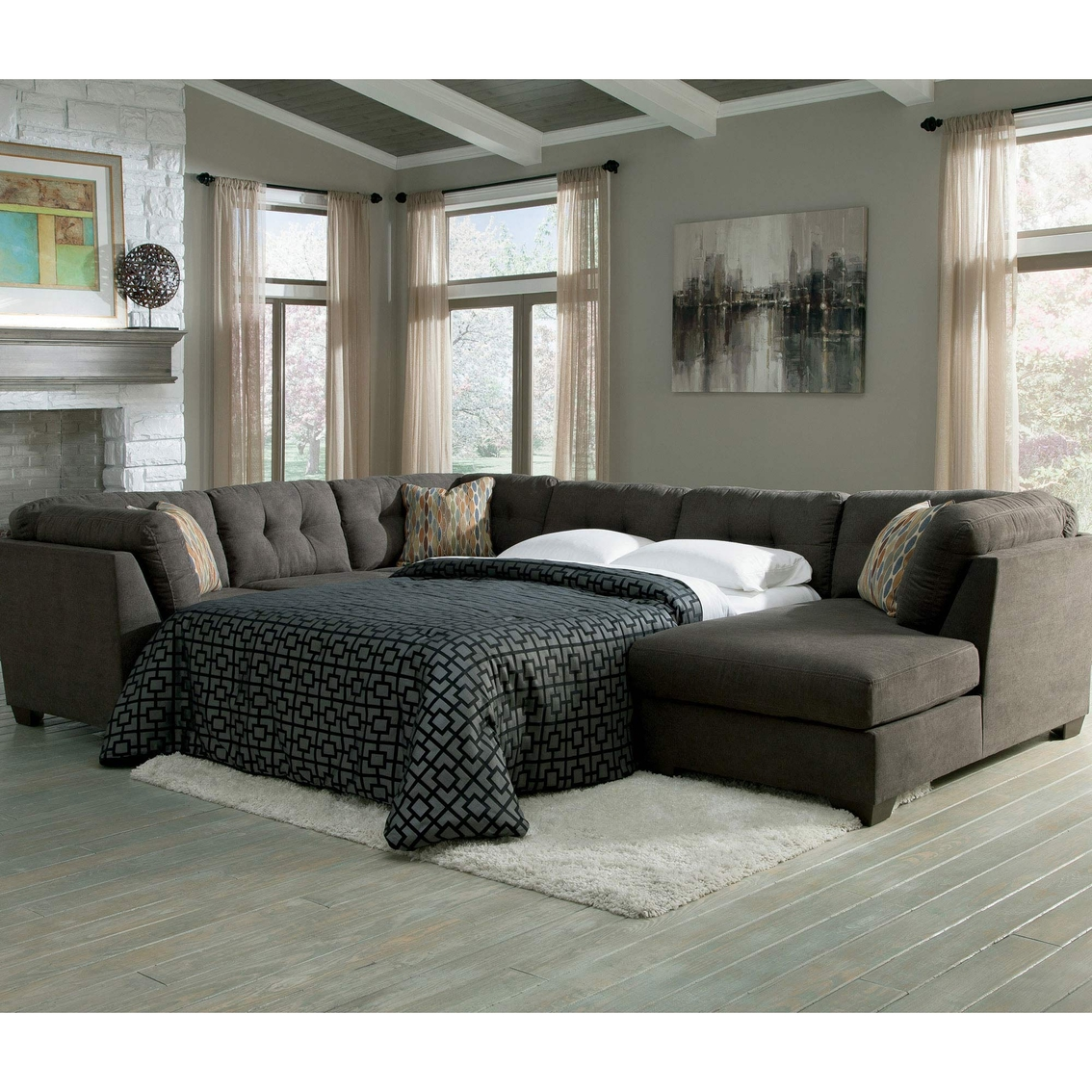 pin a sleeper piece the classic queen appeal with sectional memory mckenna foam abundant pewter makes
