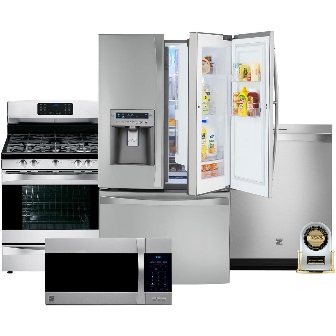 Kenmore Elite 4 Pc Kitchen Combo Kitchen Appliance Sets Home Appliances Shop The Exchange