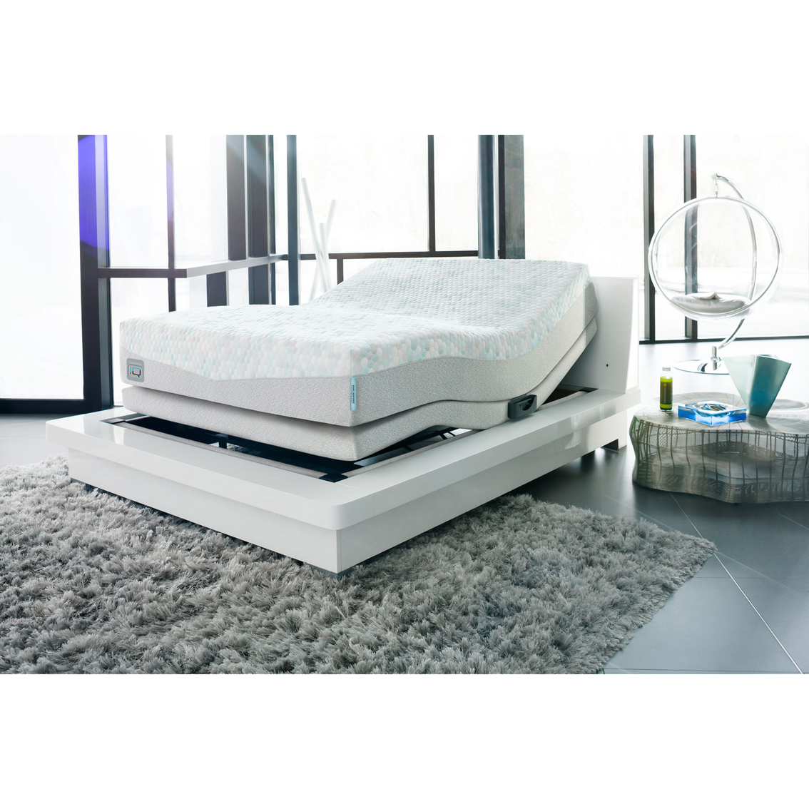 simmons comforpedic iq enlightened adjustable base luxury firm mattress set mattresses home. Black Bedroom Furniture Sets. Home Design Ideas