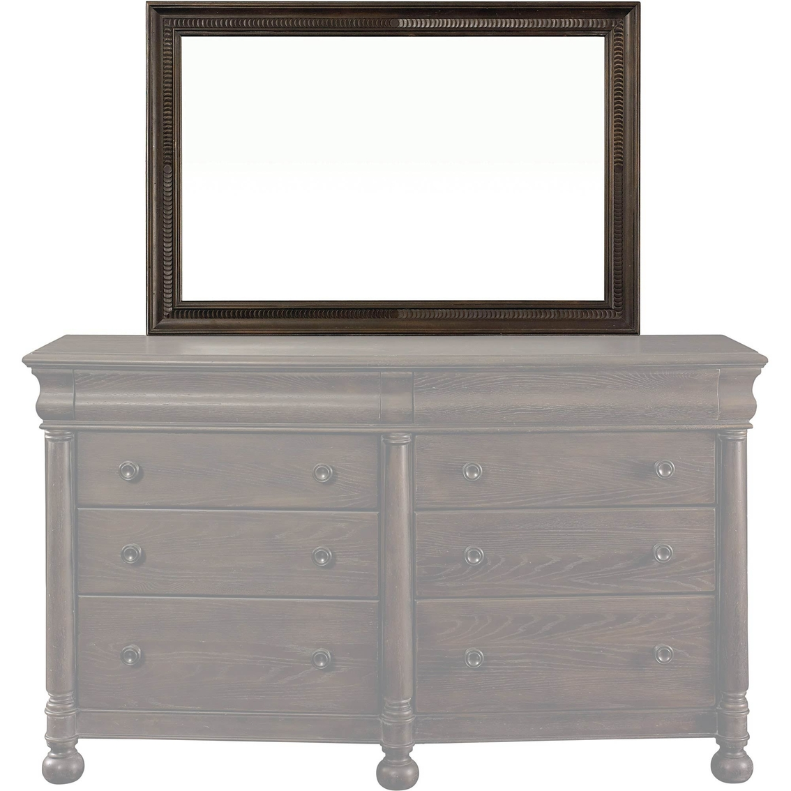Bassett emporium landscape mirror dressers home for Furniture emporium