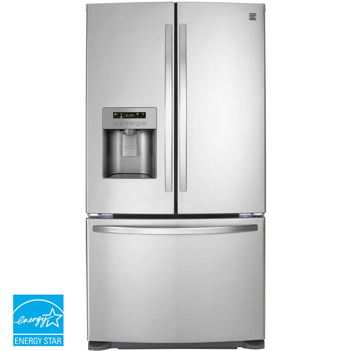 Kenmore 25 cu ft french door bottom freezer refrigerator for 17 cu ft french door refrigerator