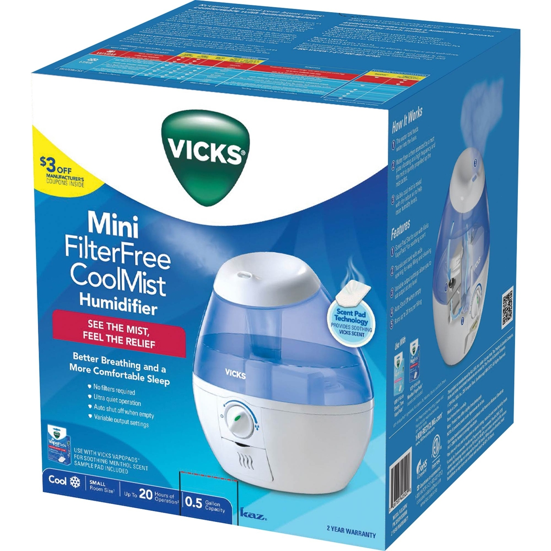Vicks Cool Mist Humidifier Cold Cough Amp Flu Beauty