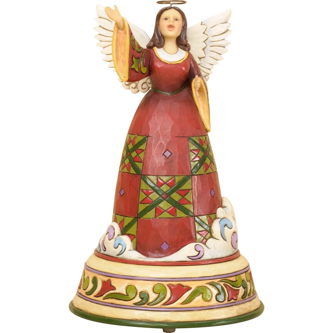 Enesco jim shore heartwood creek christmas angel singing
