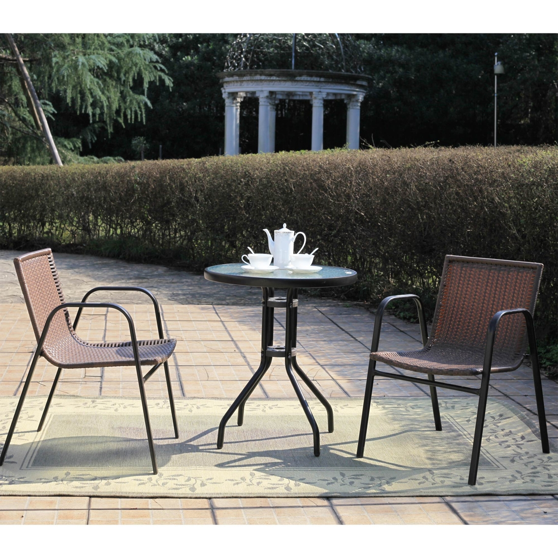 Sunmate Casual St. Tropez 3 Pc. Outdoor Patio Bistro Set