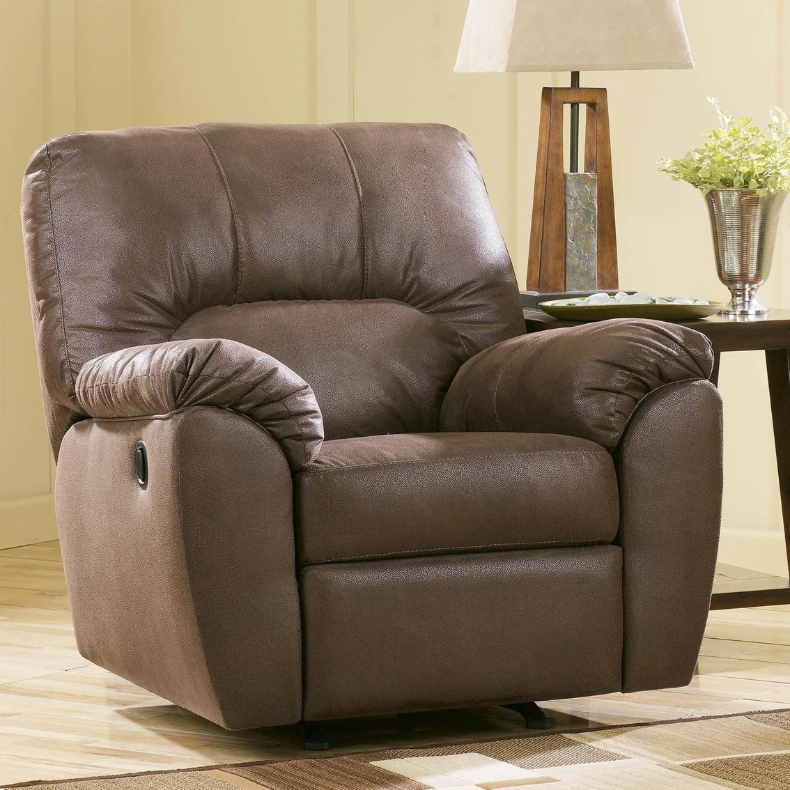 Ashley Amazon Walnut Rocker Recliner Ashley Furniture