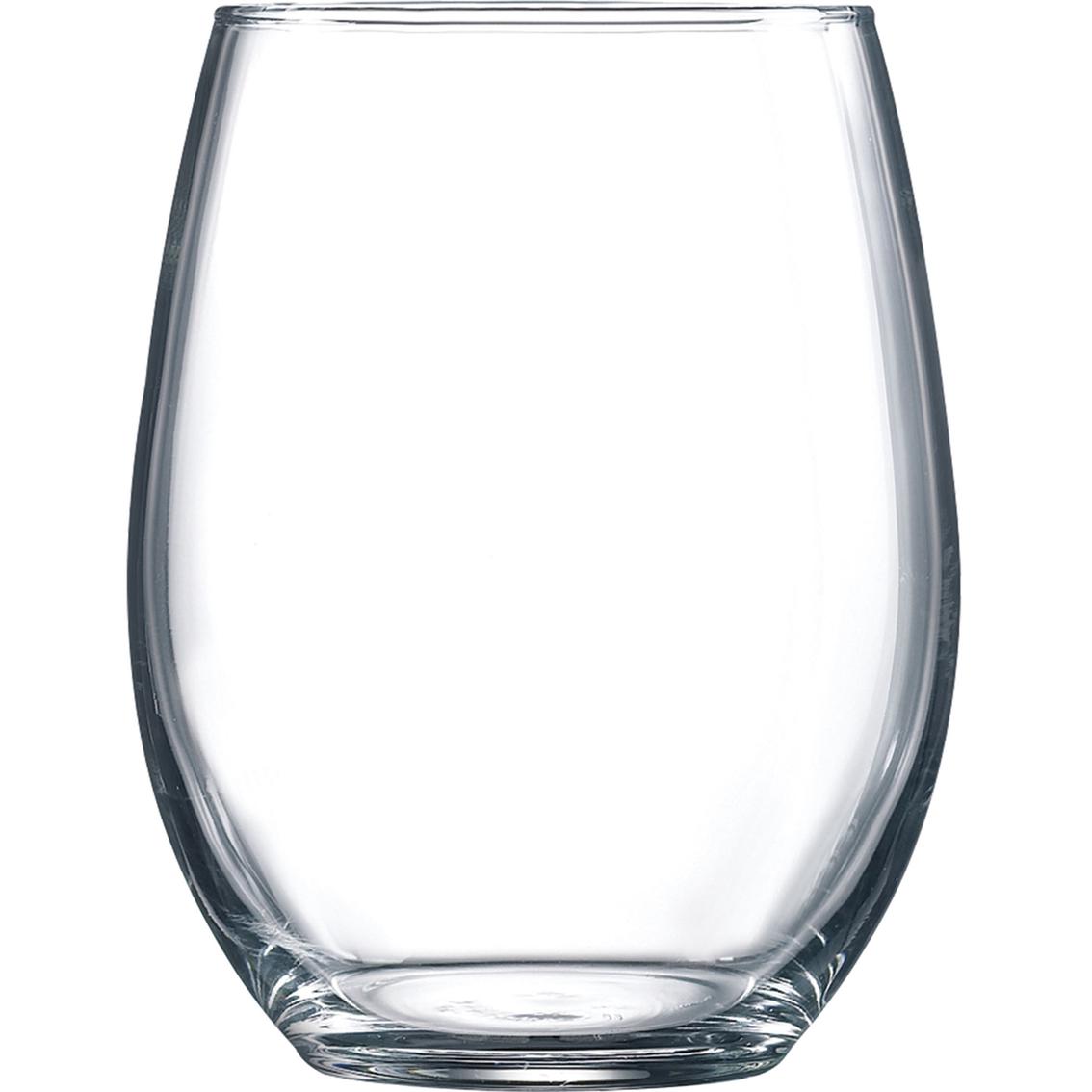 arc international luminarc cachet 4 pc stemless wine glass set beer bar wine glasses. Black Bedroom Furniture Sets. Home Design Ideas