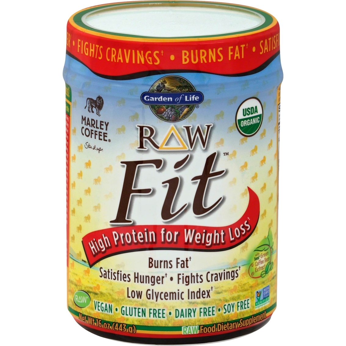 garden of life raw fit marley coffee 16 oz - Garden Of Life Raw Fit